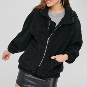 Fluffy Zip Up Jacket